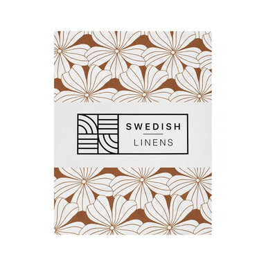 Swedish Linens Swedish Linens - Cinnamon Flowers Fitted Sheet  - Hola BB
