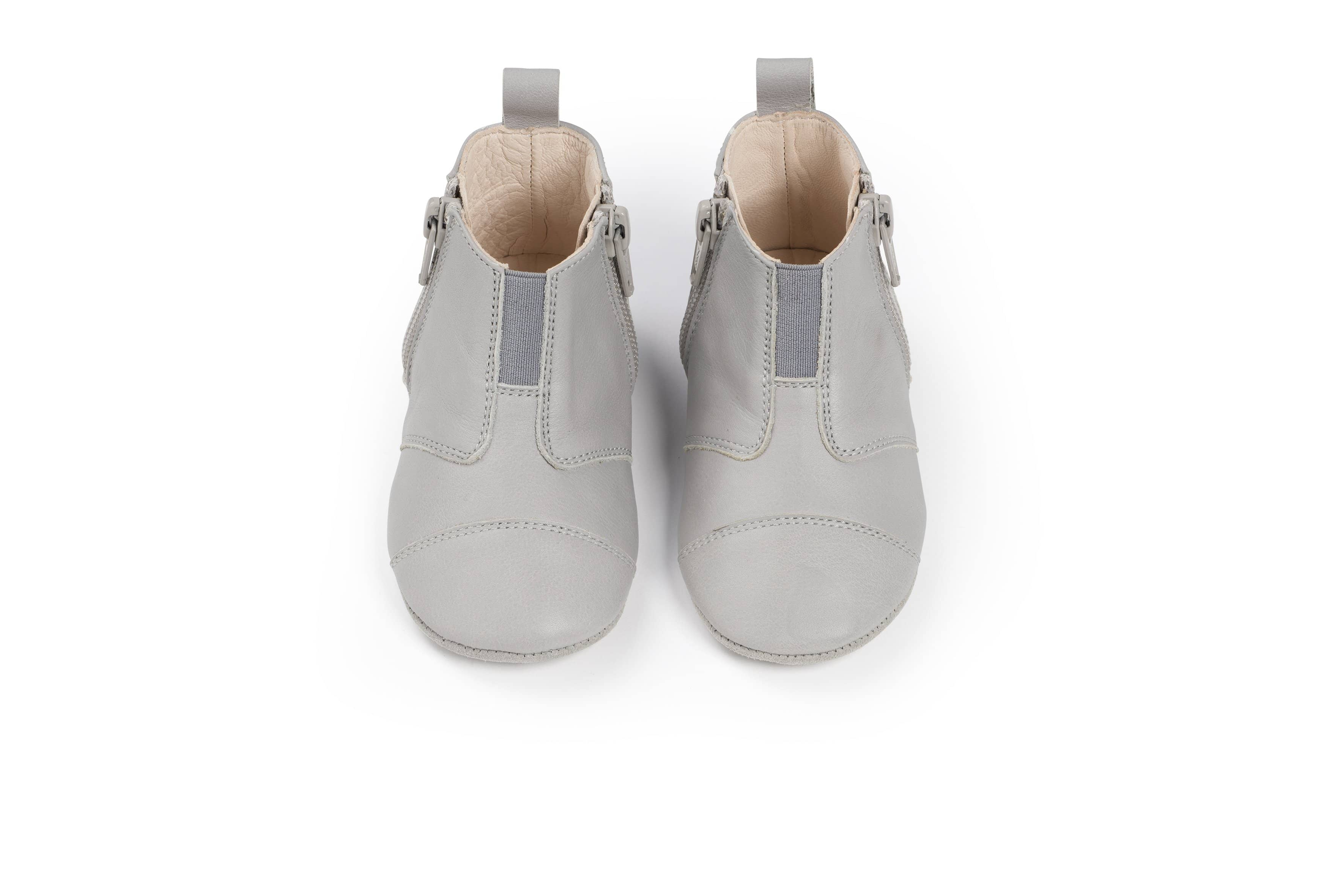 Dusq First Steps Shoes - Leather Cloud Grey  - Hola BB