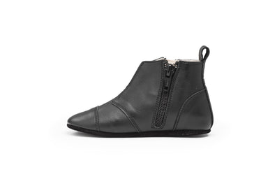 Dusq First Steps Shoes - Leather Night Black  - Hola BB