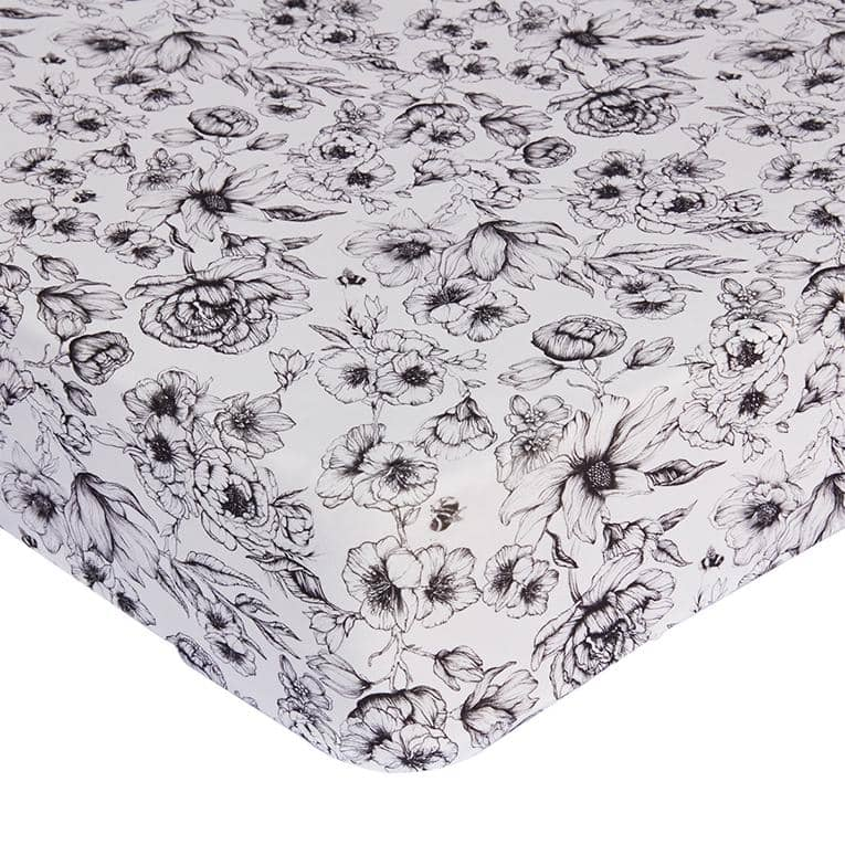 Mies & Co Cot/ Cot bed fitted sheet - Bumble Flowers  - Hola BB