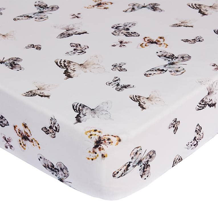 Mies & Co Cot/Cot bed fitted sheet - Fika Butterfly  - Hola BB
