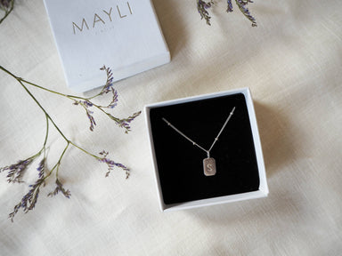 MAYLI Silver initial Pendant  - Hola BB