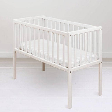 Woodies White Bedside Crib  - Hola BB