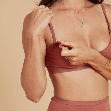 Olli Ella underWares Organic Cotton Blooma Nursing Bra - Ochre  - Hola BB