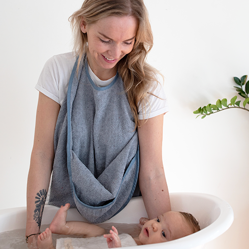 PALAIS DE L'EAU Recycled Denim & Tencel Baby Towel  - Hola BB