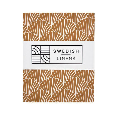 Swedish Linens Swedish Linens - Cinnamon Seashells Fitted Sheet  - Hola BB