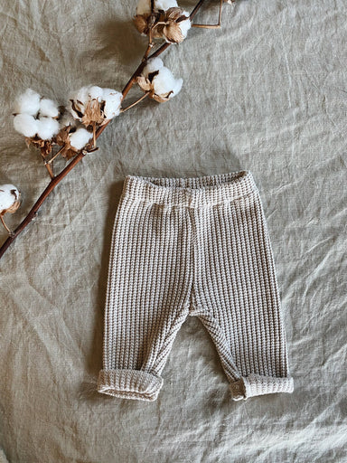 Nanami Knitted trousers - Natural  - Hola BB