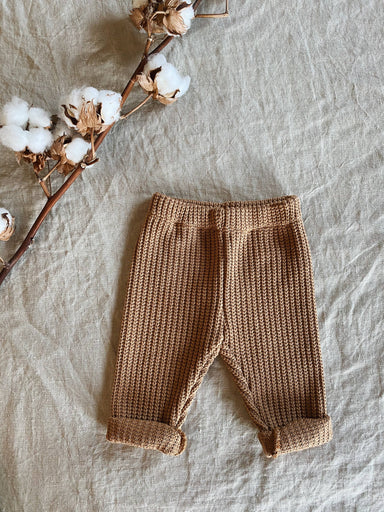 Nanami Knitted trousers - Brown  - Hola BB
