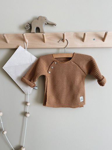 Nanami Knitted cardigan jumper - Brown  - Hola BB
