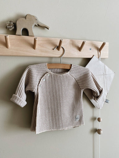 Nanami Knitted cardigan jumper - Natural  - Hola BB
