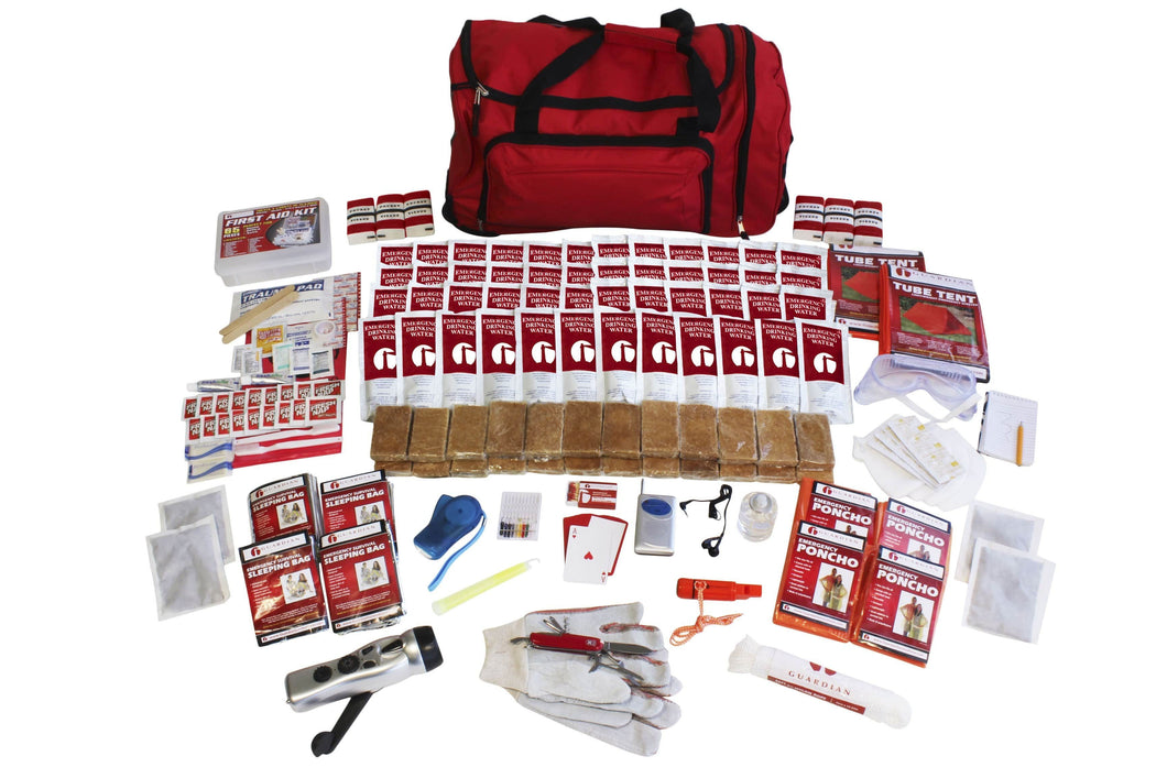 4 Person Elite Survival Kit - Tornado Kit - Tornado Emergency Kit - Tornado Safety - Tornado Survival Kit - Disaster Kit - Preparing for a Tornado - Tornado Preparedness
