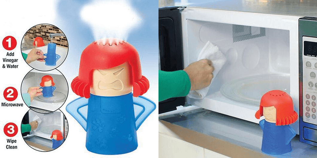 CuteCuteWorld:Microwave Cleaner Without Chemicals,Blue
