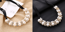 CuteCuteWorld:Big Imitation Pearl Necklace,White
