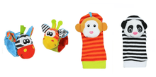 CuteCuteWorld:Baby Wrist Strip Rattles and Animal Socks