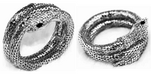 CuteCuteWorld:Luxury Snake Bracelet,Antique Silver Plated