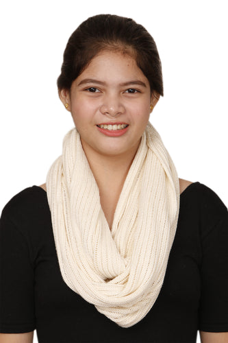 INFINITY SCARF IN NATURAL(OFF WHITE)