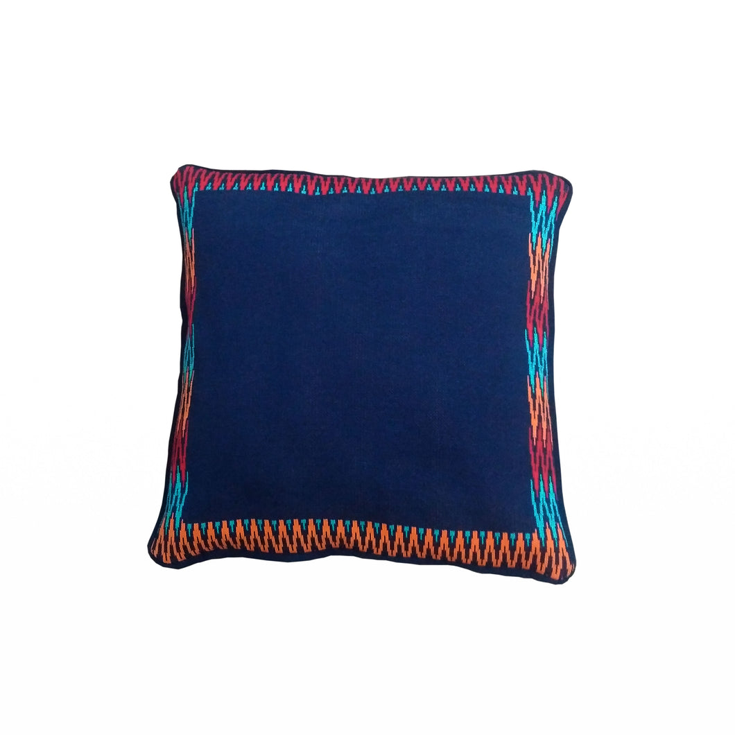 NKS 002 A: PLAIN CENTER IKAT THROW PILLOW
