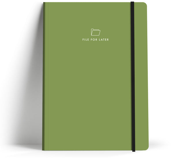 "Iconic Thoughts ""File for Later"" A5 Notebook"