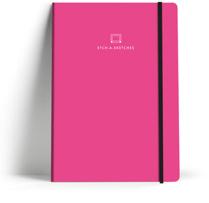 A5 Notebook with elastic closure. Front cover.