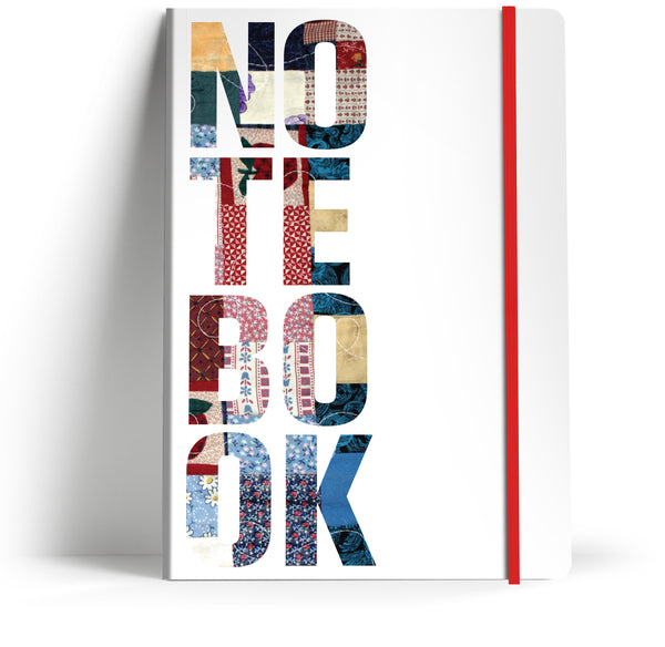 "Typography ""Patchwork"" A5 Notebook"
