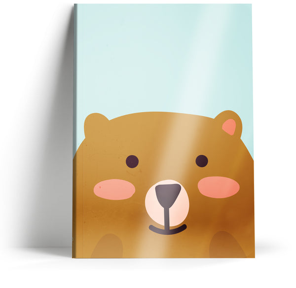 "Ani-mates ""Bear"" A5 Notebook"