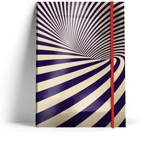 """Illusions 1"" A5 Notebook with red elastic"