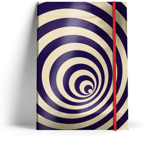 """Illusions 2"" A5 Notebook with red elastic"
