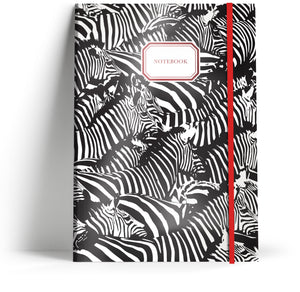 A5 Take note book with elastic. Front cover.