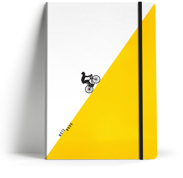 Tour De France 'Uphill' A5 Notebook with black elastic