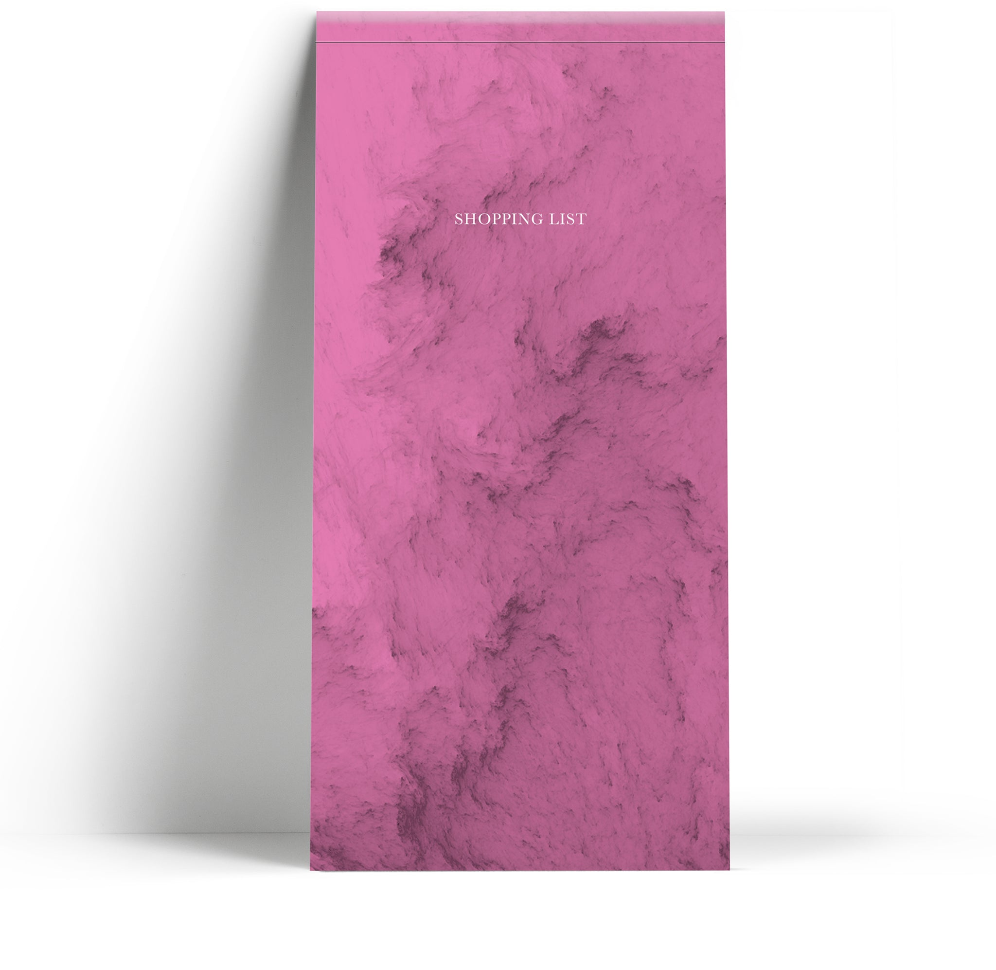 Shopping list pad - Marble Pink
