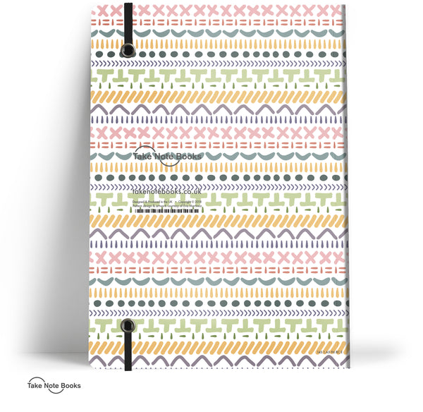 Eva Martinez Notebook // Multicolour Pattern