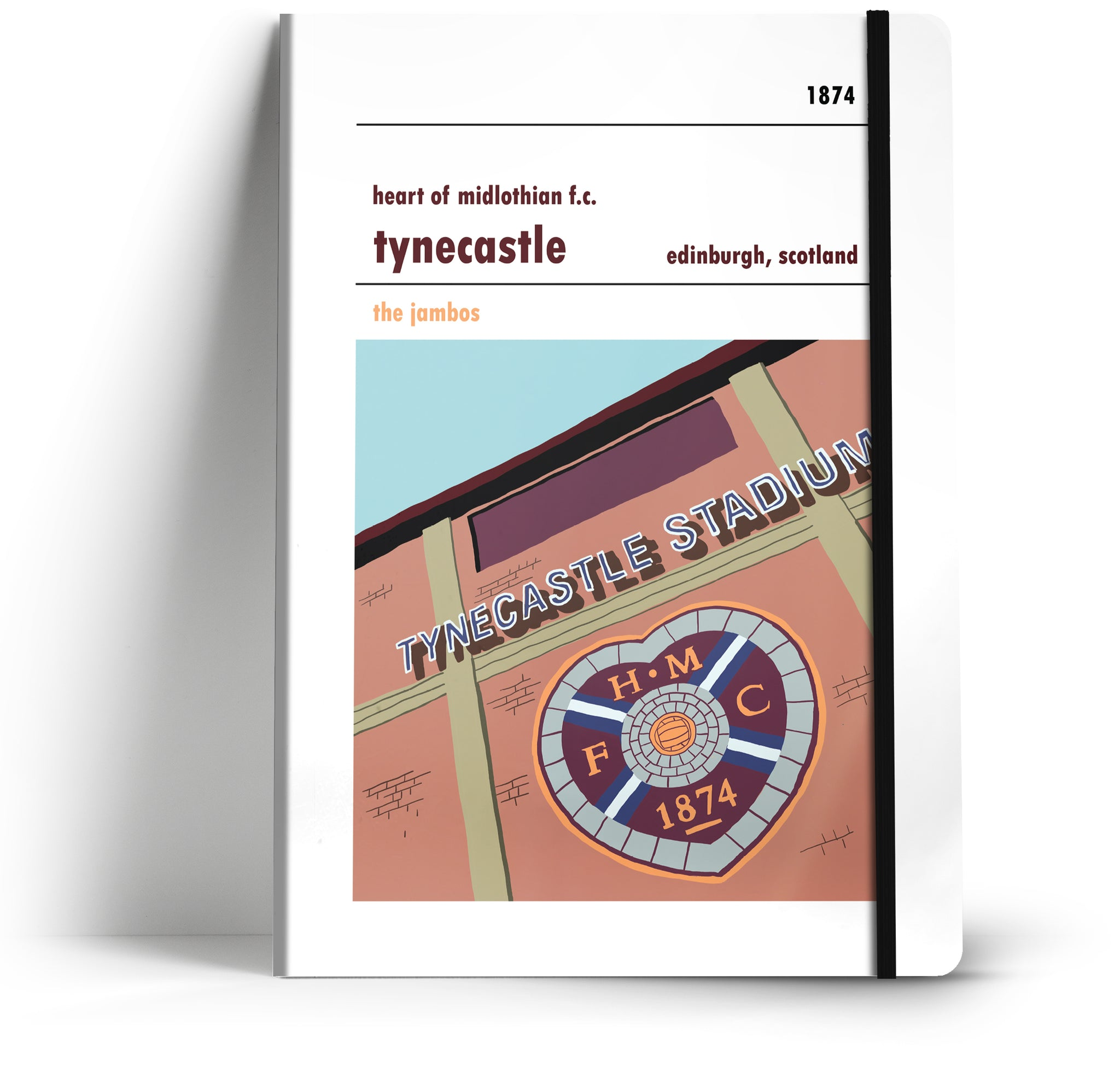 Heart of Midlothian Football Club A5 Notebook