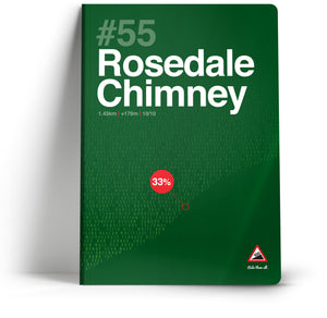 100 Climbs // #55 Rosedale Chimney A5 Notebook