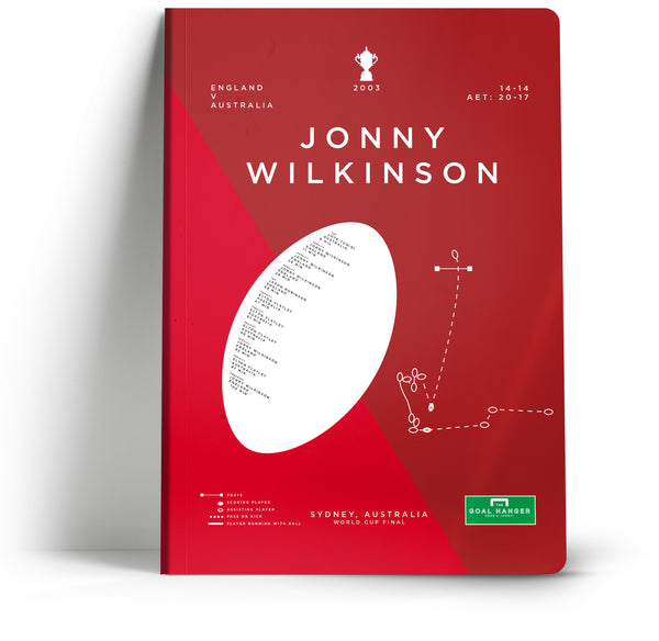 Goal Hanger //Johnny Wilkinson A5 Notebook