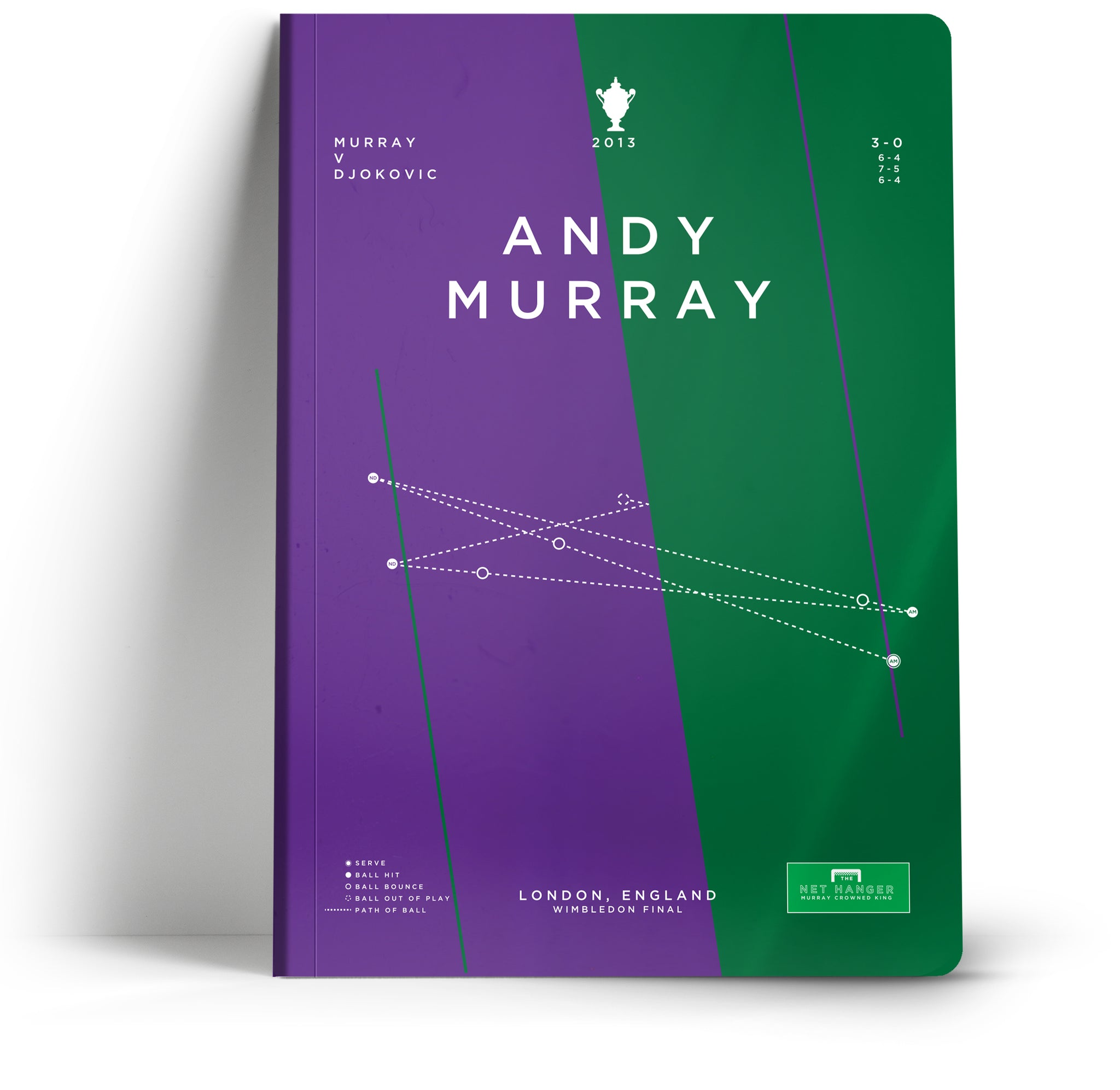 Goal Hanger // Andy Murray A5 Notebook