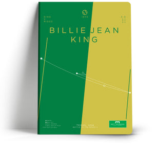 Goal Hanger // Billie Jean King A5 Notebook