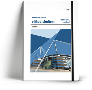 Manchester City Etihad Stadium Football Club A5 Notebook