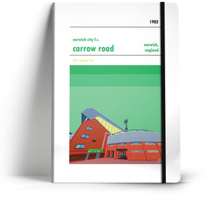 Norwich City Football Club / Carrow Road A5 Notebook