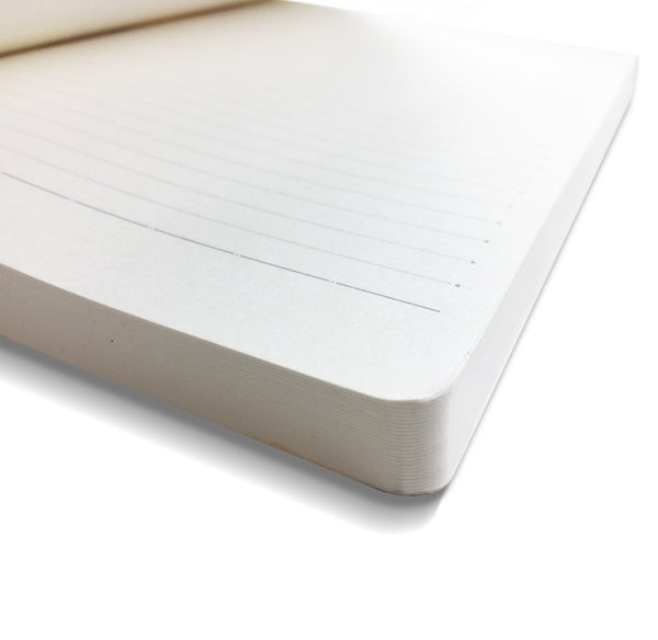 "Classical ""Feather White"" A5 Notebook"