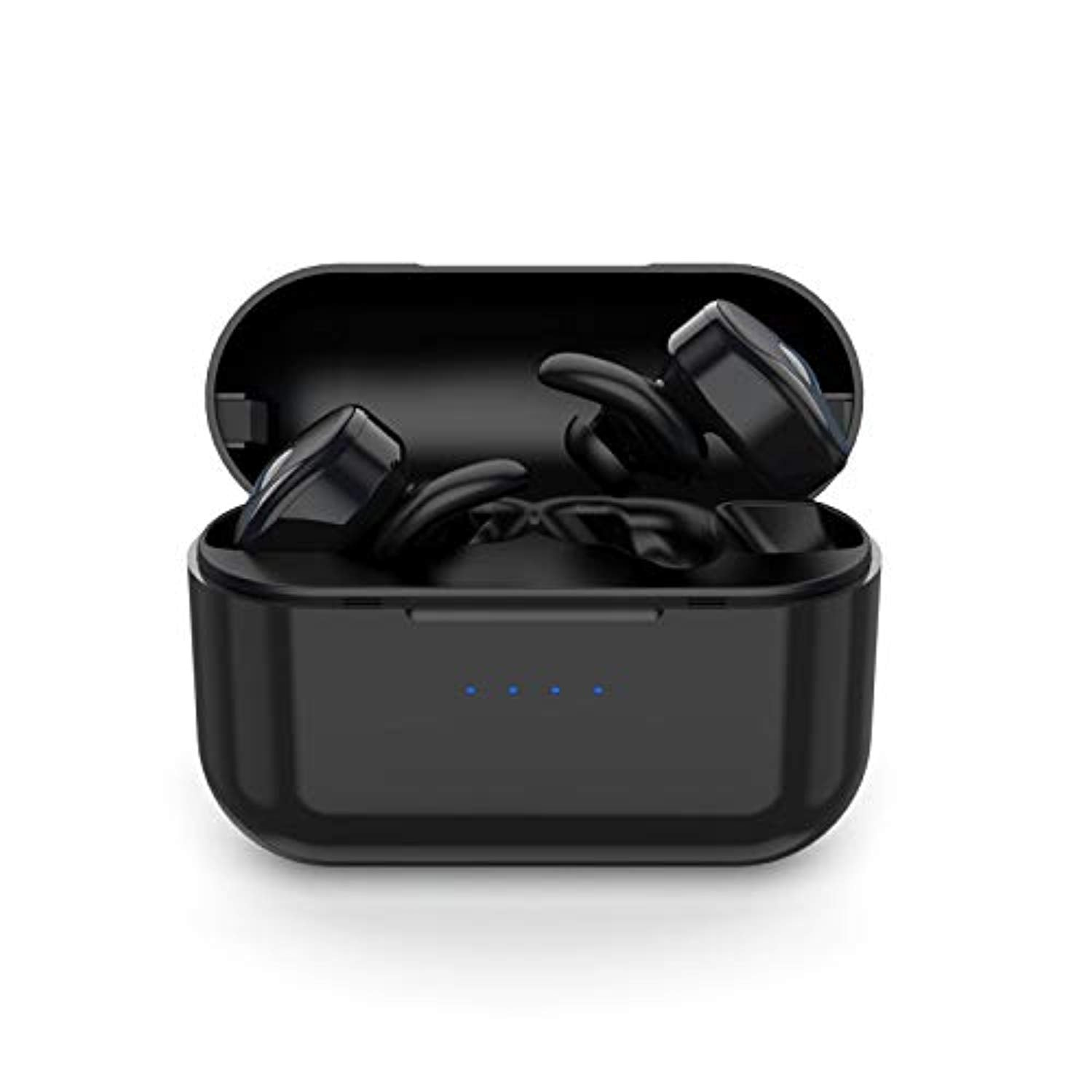 True Wireless Earbuds, Parihy Wireless Bluetooth Earphones Mini Sports Headphones, Deep Bass Sweat-proof Stereo Sound with Built-in Microphone and Charging Box for Running Exercise