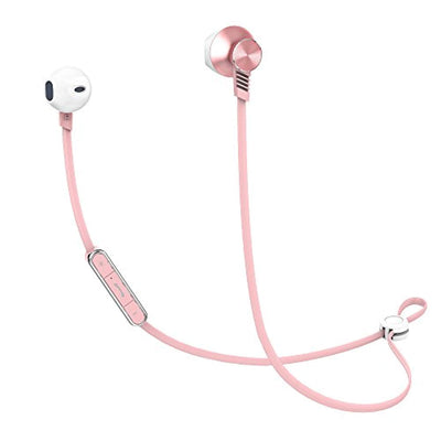 Bluetooth Earbuds, Mijiaer Wireless Headphones Sport Waterproof Earphones, in-Ear HiFi Bass Headset Built-in Microphone (Rose Gold)