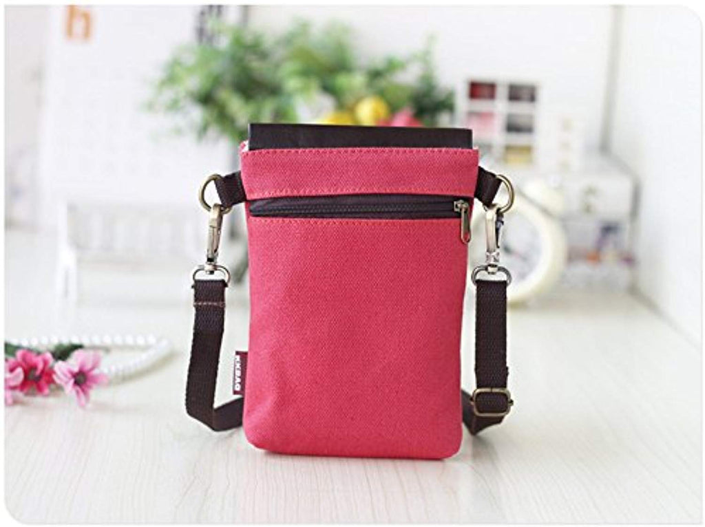 Abaddon Crossbody Bags Canvas Small Cute Cell Wallet Bag Phone Purse with Shoulder Strap coin purse