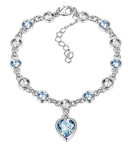 KesaPlan Heart Crystal Bracelet for Women Crystals
