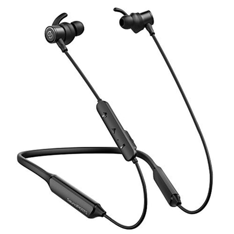 SoundPEATS Force Bluetooth Headphones Wireless Neckband Headset Stereo in-Ear Magnetic Earbuds for Workout (16 Hours Playtime, Built-in Mic, CVC 6.0 Noise Cancelling) - Black