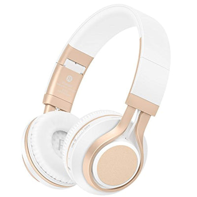Bluetooth Headphones with Mic, HiFi Stereo Foldable Lightweight Wireless Headphones