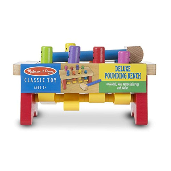 Deluxe Pounding Bench Wooden Toy With Mallet
