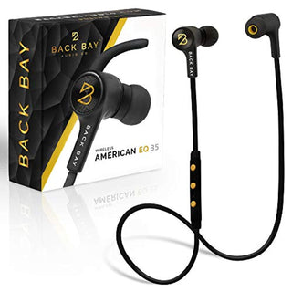 Back Bay™ - American EQ 35 - Wireless Bluetooth Earbuds. Sweatproof Stereo Headphones with 5 EQ Sounds Modes, 8-Hour Battery, Microphone, Magnet, 6 in-Ear Earphone Tips and Carrying Bag