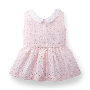 Girls Collared Eyelet Top Made With Organic Cotton