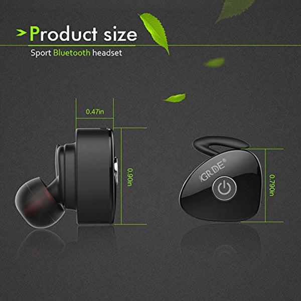 Wireless Earbuds, totobay Ture Completely Wireless V4.1 Dual Mini Bluetooth Headphones Twin Stereo Sweatproof Sport Earphones with Mic for iPhone X/8 Samsung S9/8 Edge And More (Black)