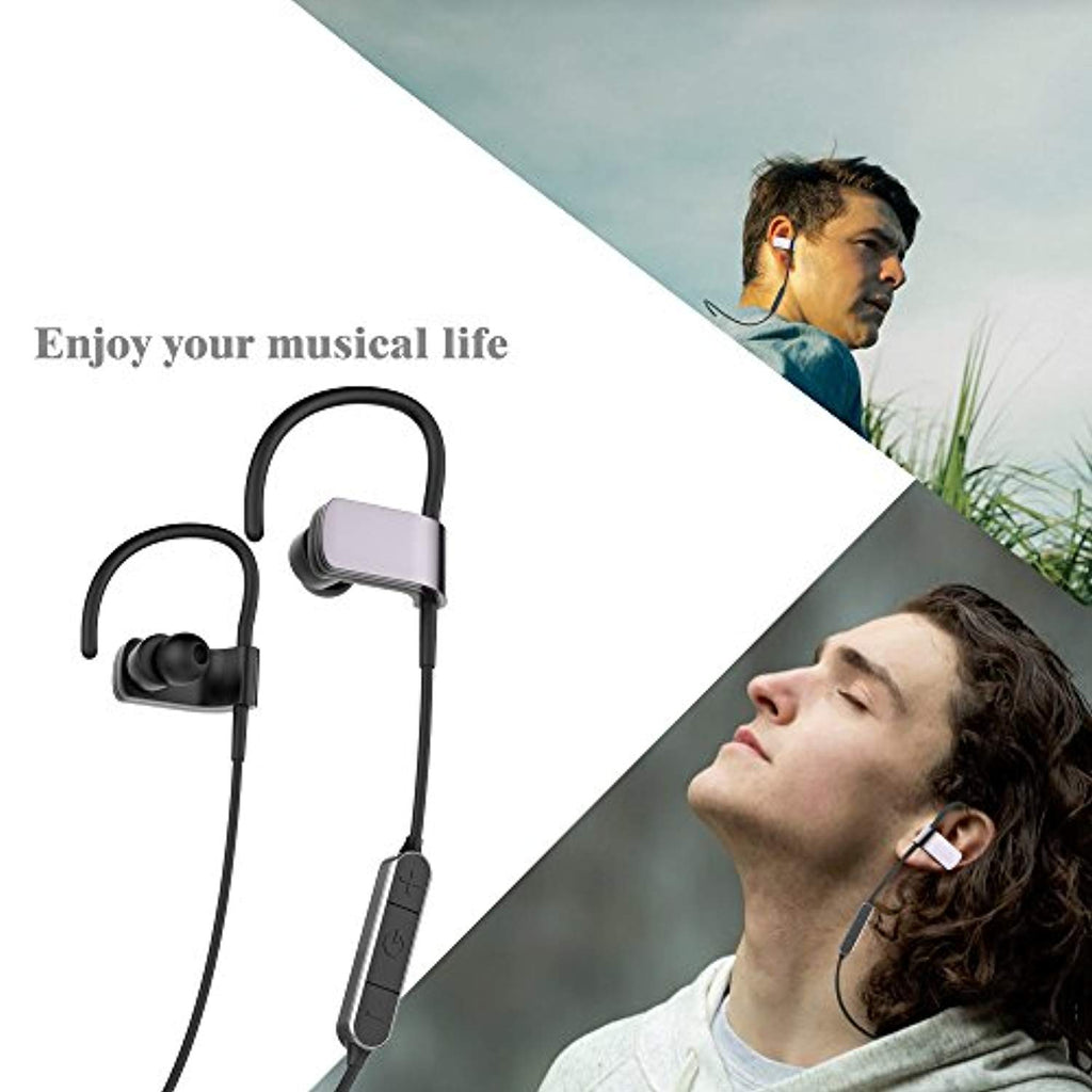 USTEK Bluetooth Headphones, Sport Wireless Earphones with Built-in Mic, Noise Cancelling, 8-Hour Playtime for Gym, Running, Workout for Men, Women
